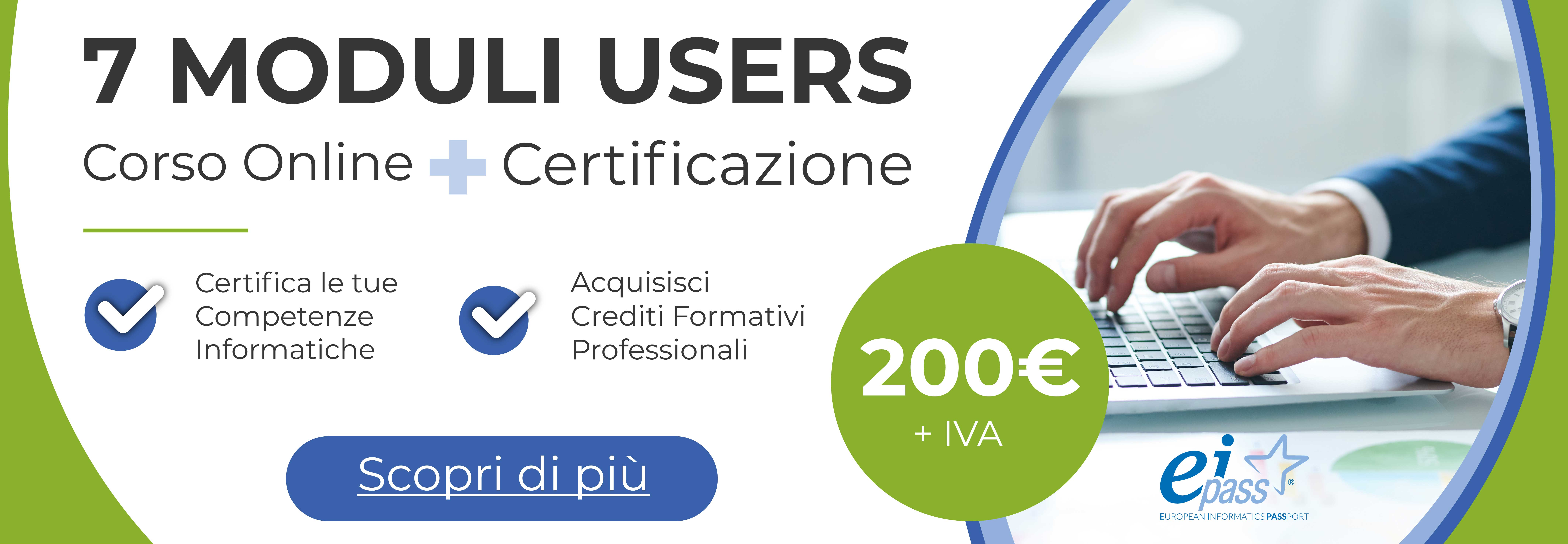 EIPASS 7 Moduli Users - Corso online + Certificazione